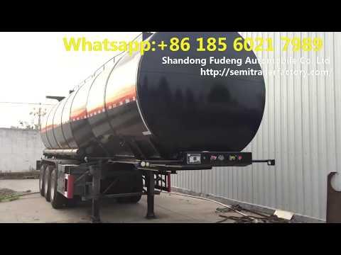 Cheap price Coal Tar tanker trailer , China Bitumen tanker , Tar oil tank semi trailer for sale