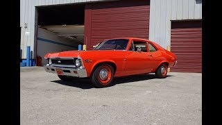 1969 Chevrolet Nova SS Super Sport in Orange & 396 Engine Sound on My Car Story with Lou Costabile