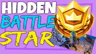Fortnite SECRET HIDDEN BATTLE STAR LOCATION Week 5 - Blockbuster Challenges Season 4