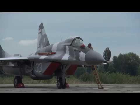 МиГ-29 полеты в Василькове//MiG-29 flights at the Vasil'kiv airbase