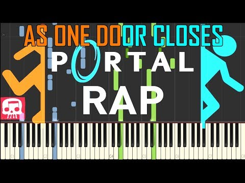 As One Door Closes - PORTAL RAP by JT Music [Synthesia Piano Tutorial]