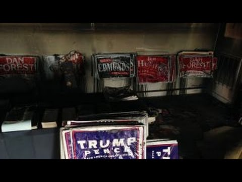 North Carolina's GOP office firebombed