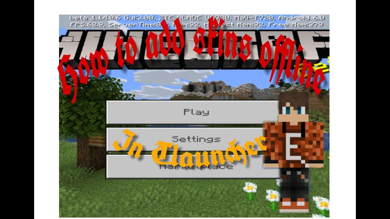 How to change skins offline in tlauncher - YouTube