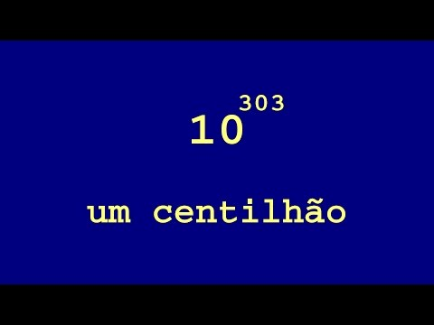 Colorful Numbers and Words : power of ten from 1 to one centillion in Portuguese