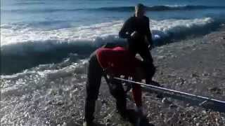 Dentex Dentex, Pesca de Dentón desde Costa! heavy Casting SurfKayak