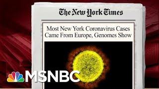 Virus Spread Sooner Than Thought, Mostly Came From Europe: Report | Morning Joe | MSNBC