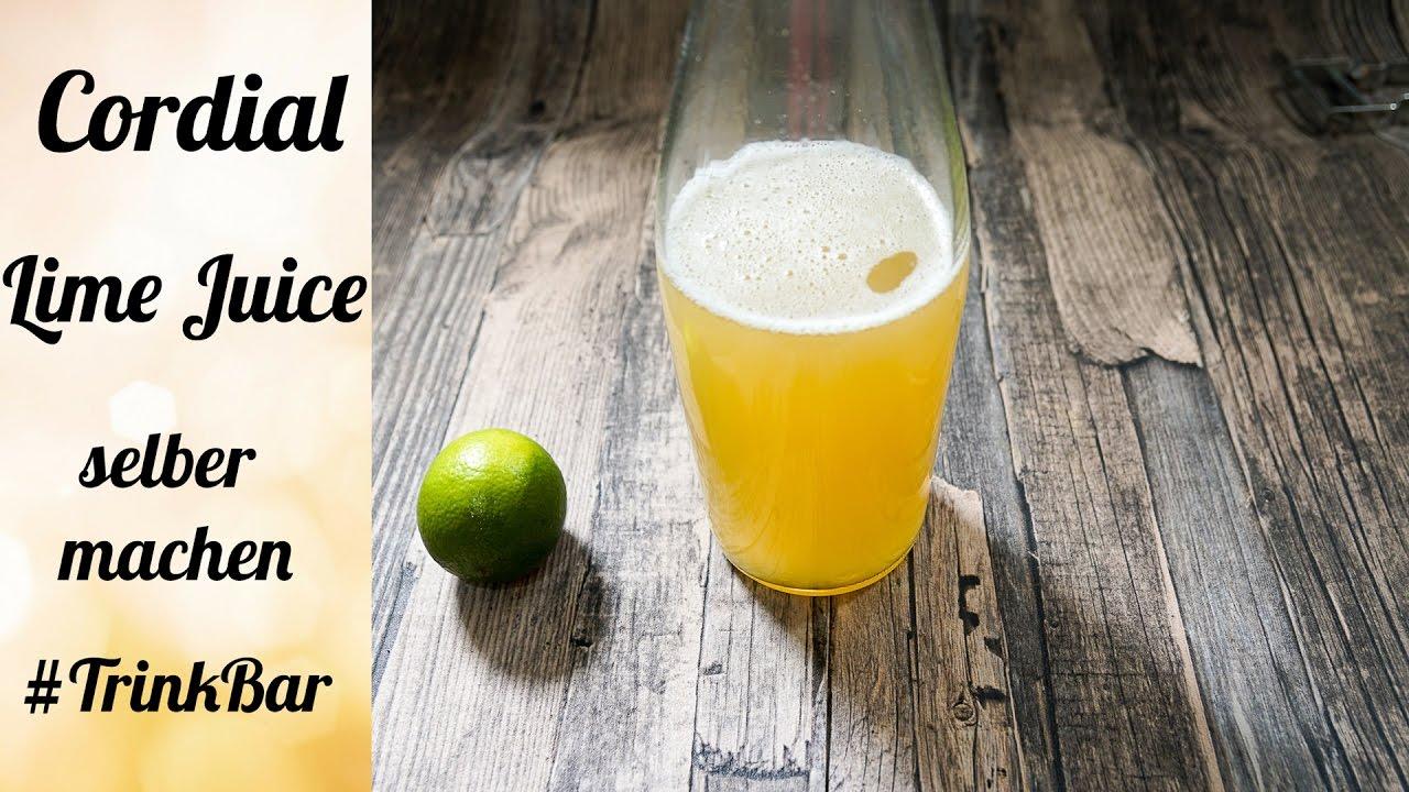 cordial lime juice selber machen cocktail rezept trinkbar youtube. Black Bedroom Furniture Sets. Home Design Ideas
