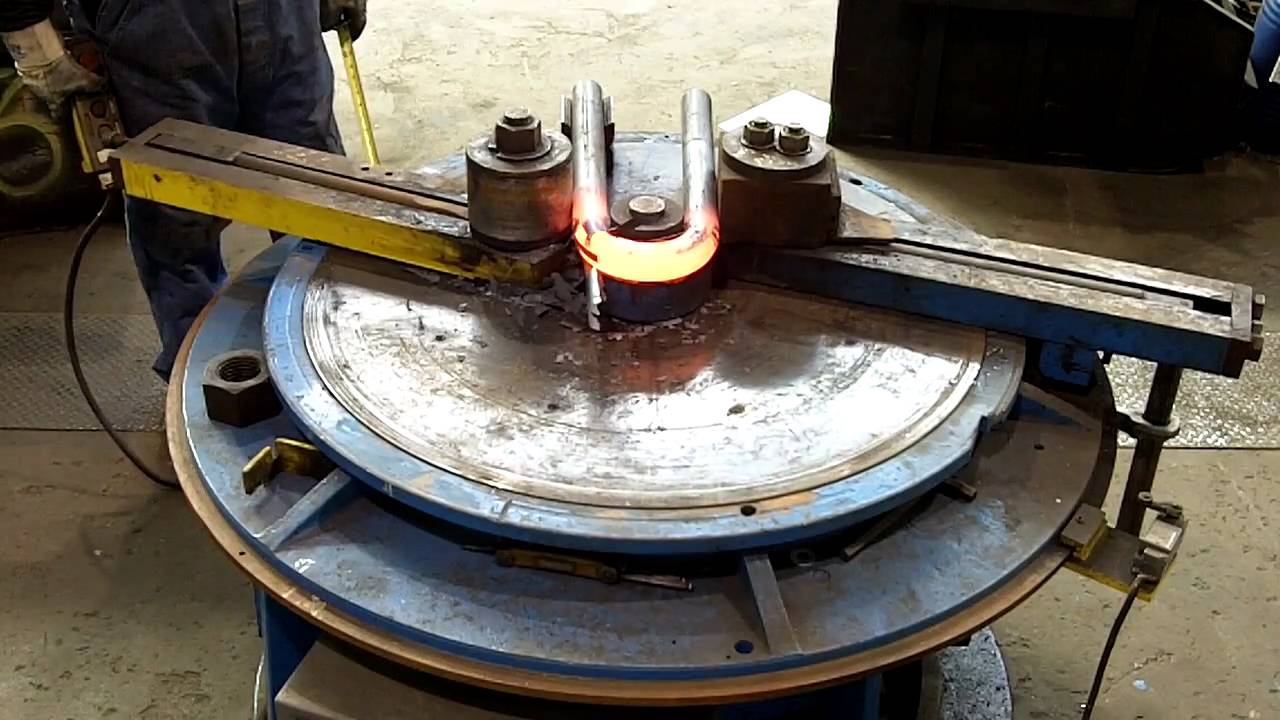 Hot Bending a Large U-Bolt
