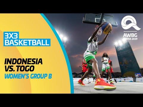 3x3 Basketball - Indonesia vs Togo | Women's Group B Match | ANOC World Beach Games Qatar 2019