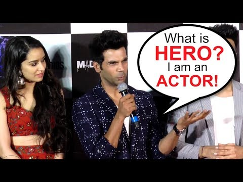 Rajkummar Rao Gets ANGRY On Being Called 'HERO' At Stree  Launch