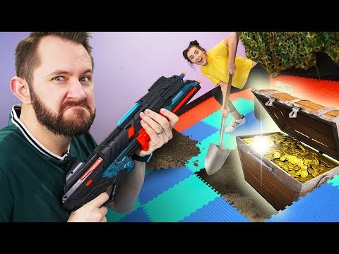 NERF Buried Treasure Challenge!