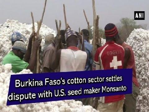 Burkina Faso's cotton sector settles dispute with U.S. seed maker Monsanto