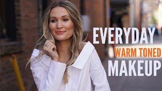 Warm-Toned Everyday Makeup Routine | Urban Decay Naked Heat | ttsandra thumbnail