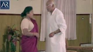 Chinna Papa Pedda Papa Scenes | Man Watch Lady Servant House Cleaning | AR Entertainments