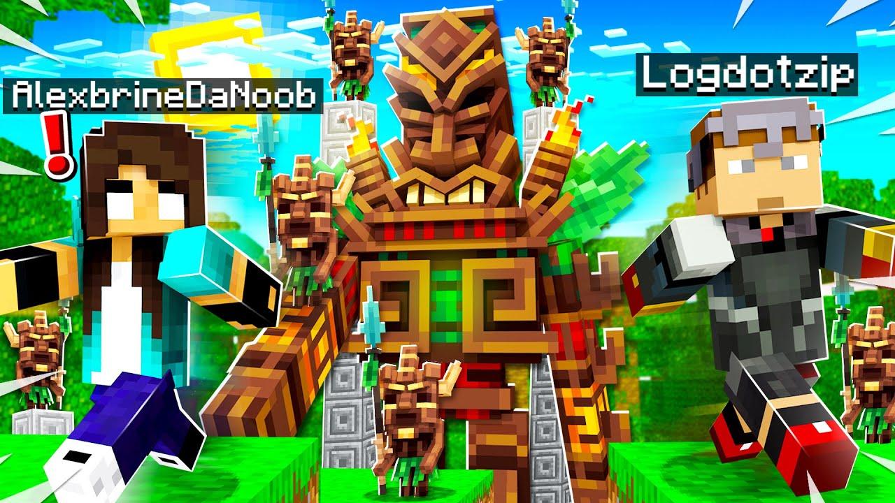 Inviting noob Girl to my SECRET Minecraft World...