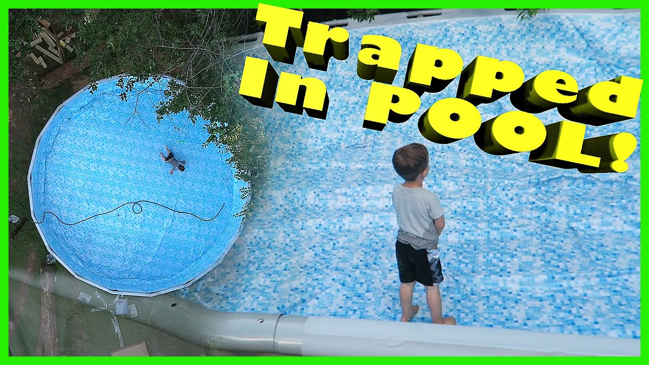 Toddler trapped in pool youtube for Swimming pool 4 eckig