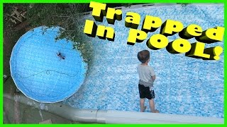 toddler trapped in pool
