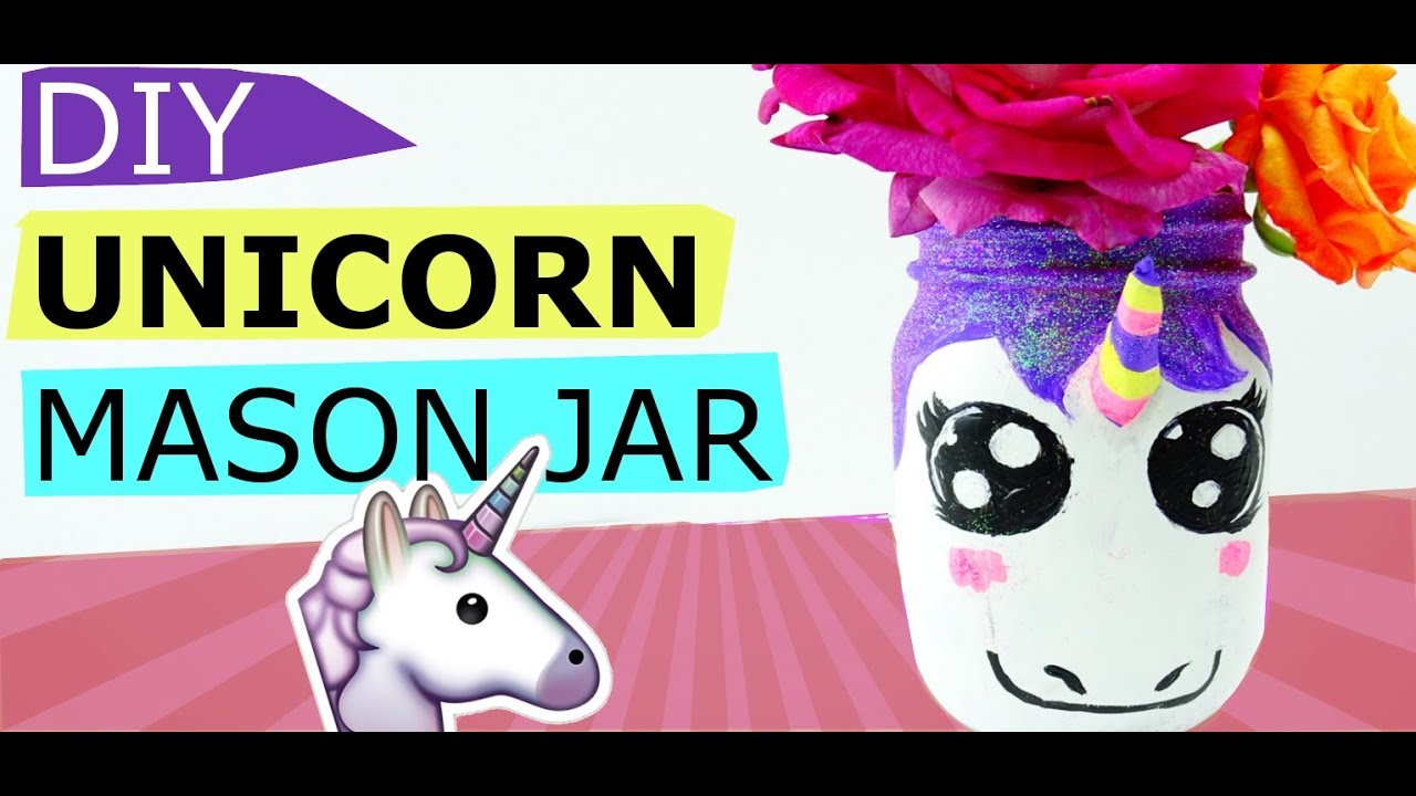 Kids Arts And Crafts How To Make A Magical Unicorn Mason Jar Youtube