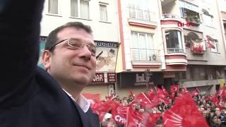 İmamoğlu Zeytinburnu'nda seçim çalışmalarına katıldı