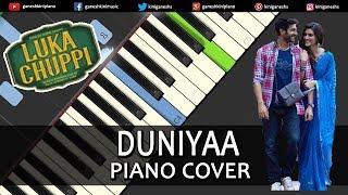 Duniyaa Song Luka Chuppi | Piano Cover Chords Instrumental By Ganesh Kini
