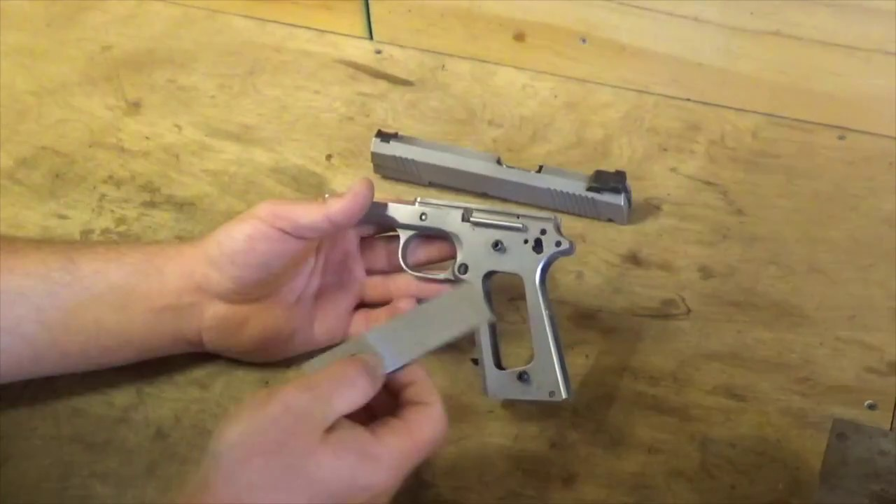 1911, Tightening the frame rails - Peening - YouTube