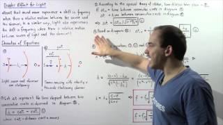 Doppler Shift Equation for Light
