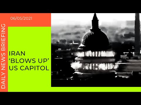 Iranian state TV shows video of missile blowing up US Capitol building | Today's News Briefing