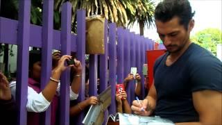 David Gandy en la Ciudad de México - 28 de agosto de 2015