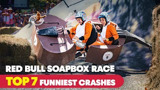 Try NOT To Laugh At Soapbox's Funniest Crashes 😂  | Red Bull Soapbox Race