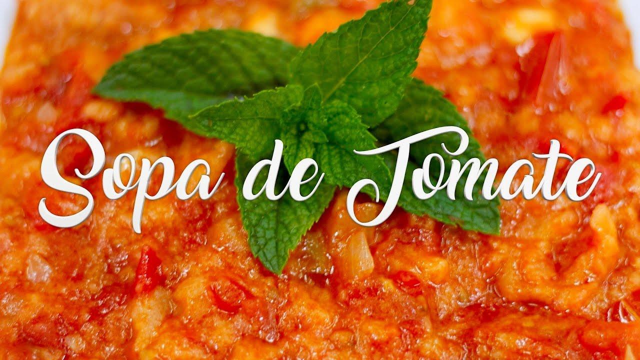 Sopa de tomate casera ingredientes