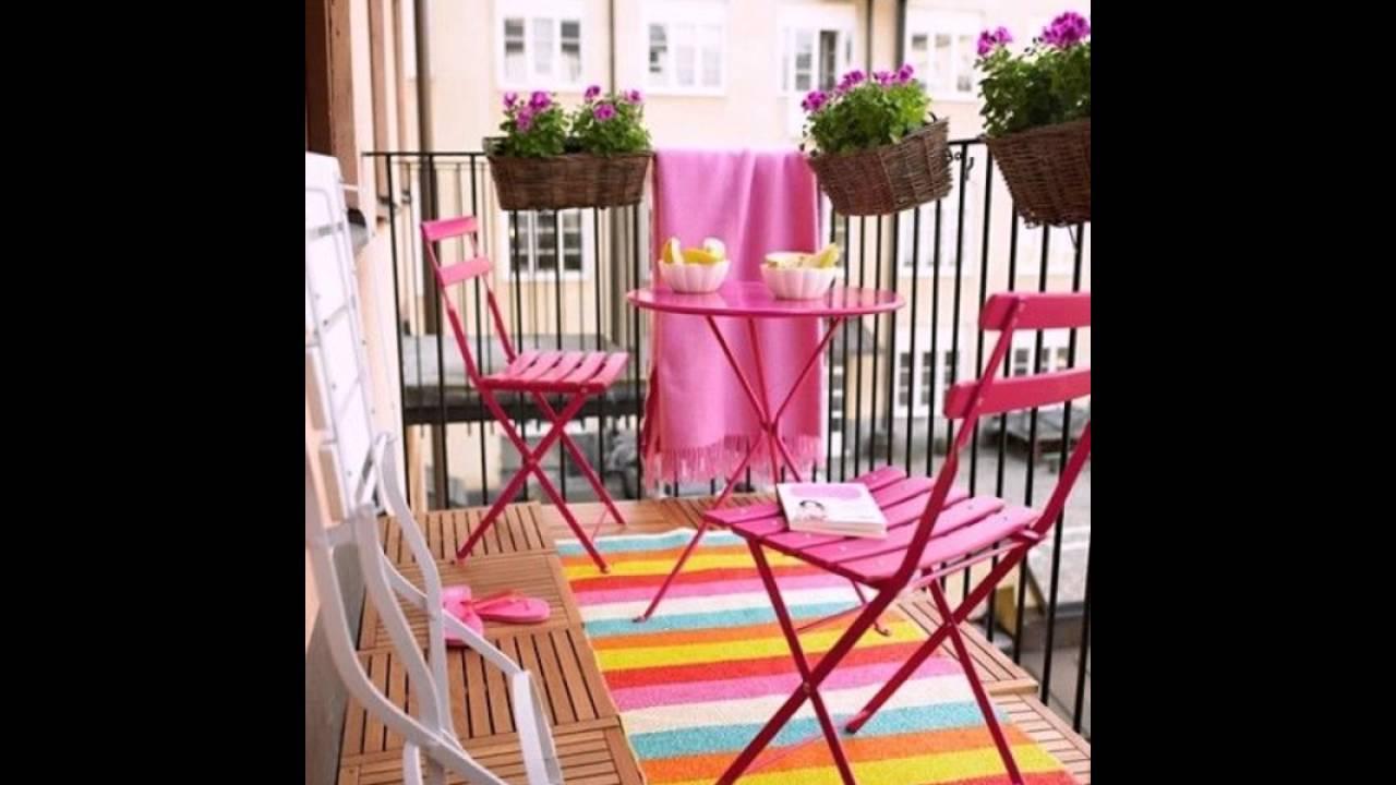 Moderne Balkonmobel In Rosa Balkon Ideen Fur Draussen Balkon