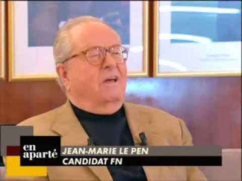 En aparté avec Jean-Marie Le Pen le 02/04/2007