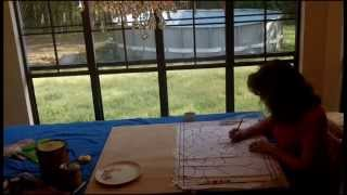 How To Stain A Stained Glass Window Pattern On Wood - Making Plywood Beautiful Alethea