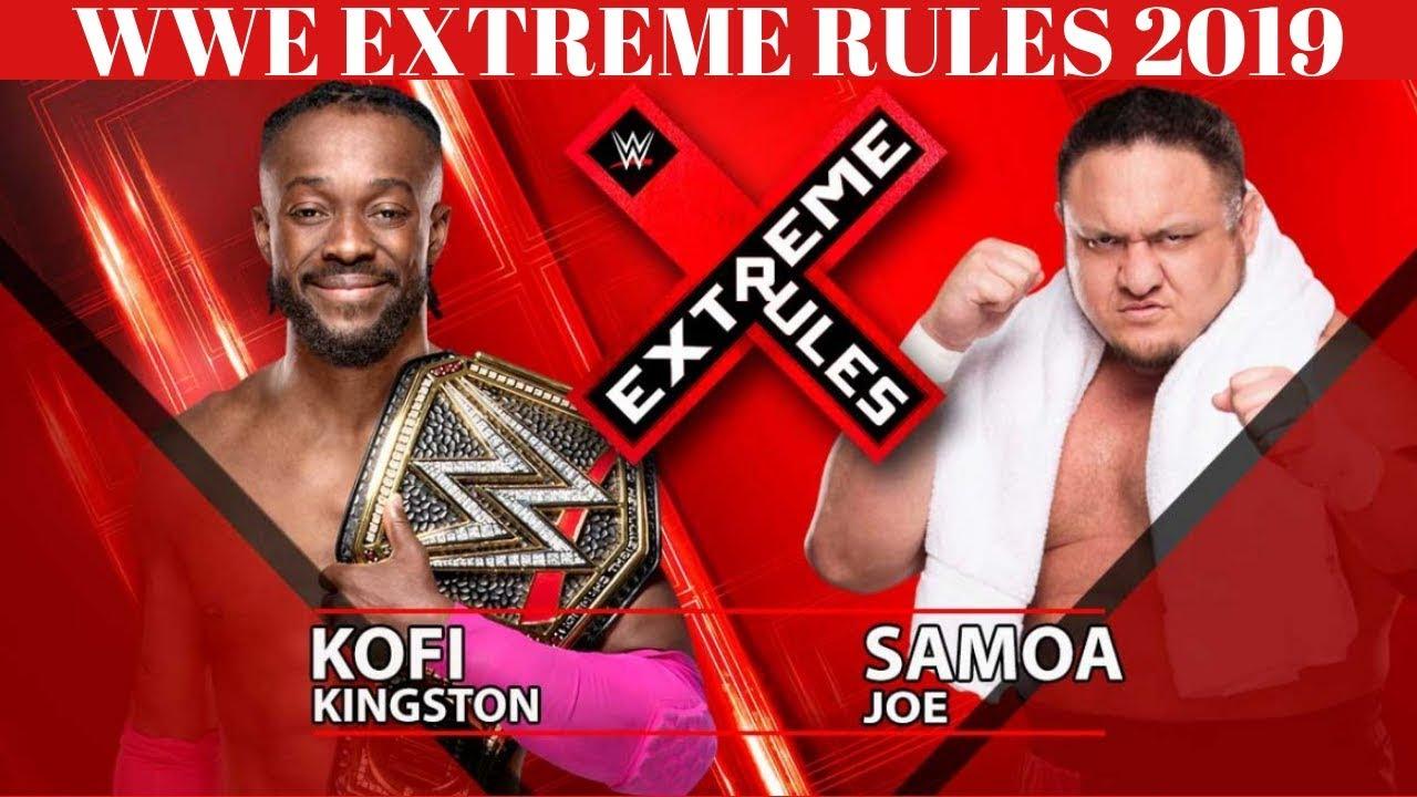 Download Kofi Kingston vs Samoa Joe WWE Extreme Rules 2019 HD