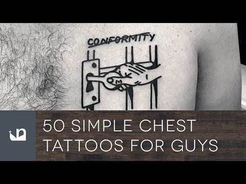 50 Simple Chest Tattoos For Men
