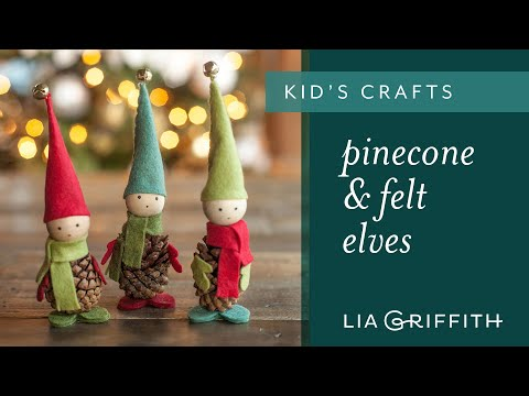How to Make Pinecone Elves