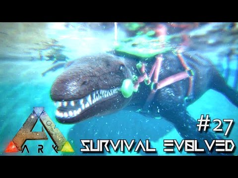 ARK: Survival Evolved   MOSASAURUS TAMING U0026 DEEP SEA LOOT CRATES !!!