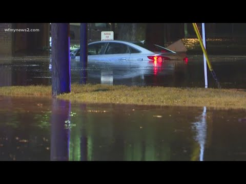 Flooding Swallows Cars, Shuts Down Roads In Greensboro