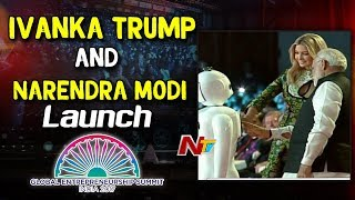 Ivanka Trump and Narendra Modi Launch Global Entrepreneurship Summit Logo    #GES2017       NTV