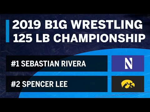 125 LBS: #1 Sebastian Rivera (Northwestern) vs #2 Spencer Lee (Iowa) | B1G Wrestling Championship