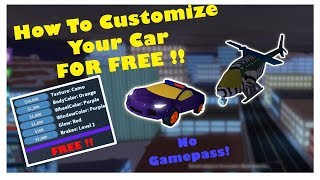[NEW] CUSTOMIZE YOUR CAR FOR FREE | (WITHOUT GAMEPASS) | Roblox Jailbreak