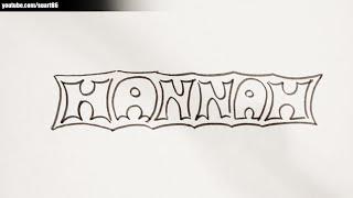 How Draw Name Hannah