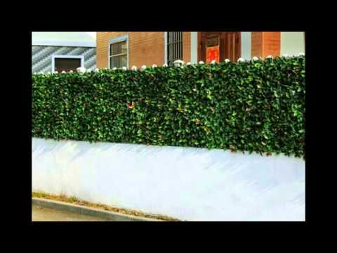 Artificial Hedges For Courtyard Fencing Sunwing Youtube
