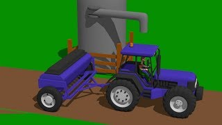 Combine Harvester and Mini Excavator with mixed cabins - Fairy tale about Vehicles and their Destiny