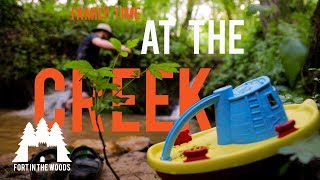 DIY Swimming Hole at the Creek | Family Time At The Creek | Fort In The Woods | FITW