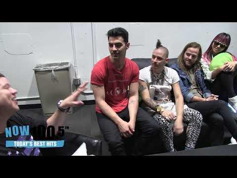 Doug Lazy Interviews DNCE Backstage At The Sleep Train Arena