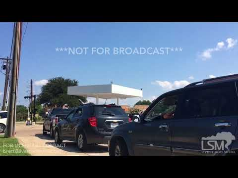 08-31-2017 Long Fuel Station Lines in Dallas, TX