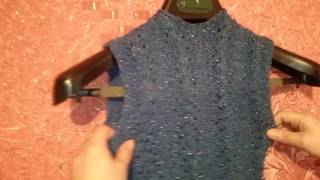 Анонс: вяжем спицами# платье узором