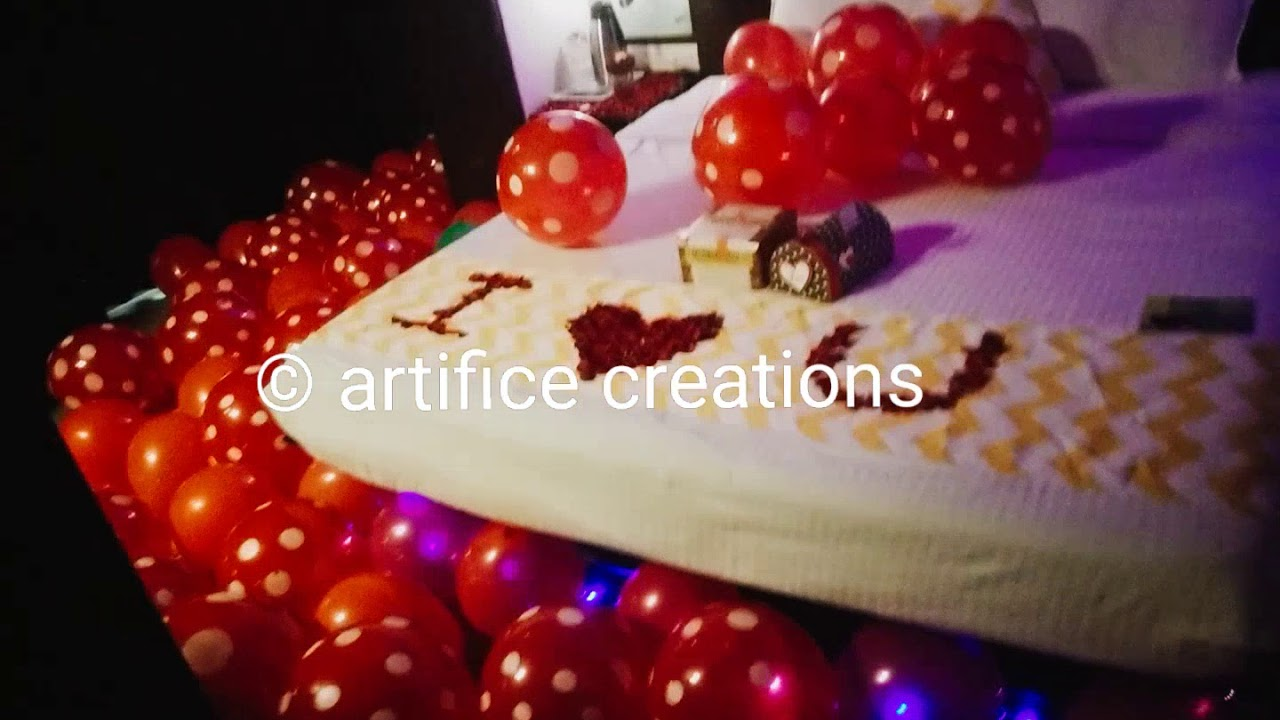 Romantic Anniversary Birthday Surprise Decoration Ideas Ballon