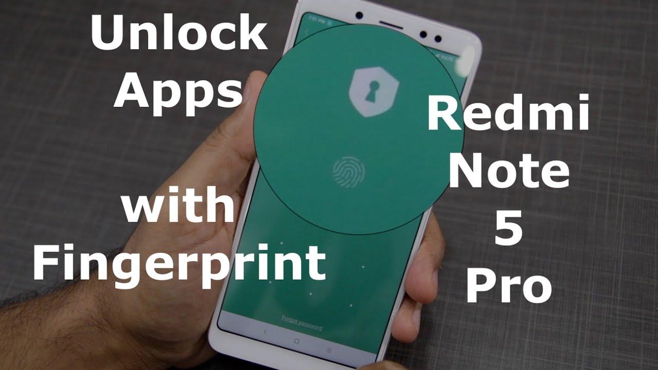 Redmi Note 5: Lock Unlock Apps using Fingerprint